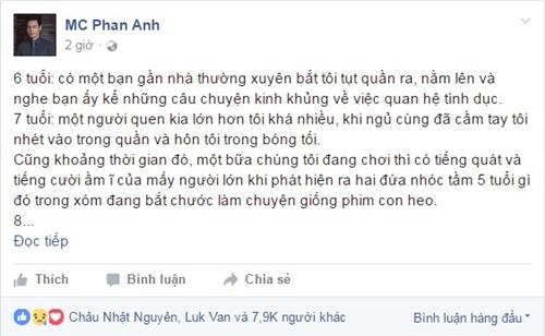 Lời thú nhận gây sửng sốt của MC Phan Anh.