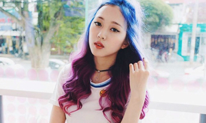 Hot girl tóc tím có giọng hát như 'đâm lê' gây sốt Vietnam's Next Top Model