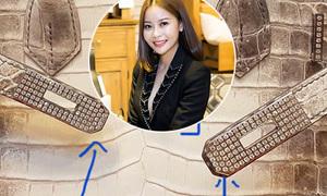 Túi 'bạch tạng' 5 tỷ của người đẹp Việt bị nghi là hàng fake