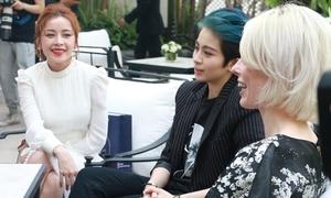 Chi Pu giao lưu tiếng Anh với siêu mẫu Coco Rocha