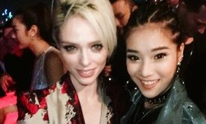 Hoàng Yến Chibi cá tính selfie cùng siêu mẫu Coco Rocha