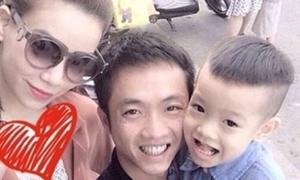 Sau ảnh đi ăn đêm, Hà Hồ - Cường Đô La cùng cổ vũ con trai thi bơi