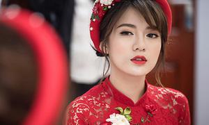 Tú Linh xinh đẹp 'không góc chết' trong lễ ăn hỏi