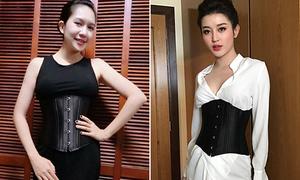 Sao Việt đua nhau biến corset nịt bụng thành phụ kiện thời trang