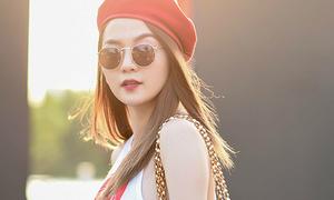 Thiều Bảo Trang mặc sành điệu tập catwalk cùng dàn mẫu nhí