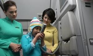 Cô bé ung thư mơ làm tiếp viên hàng không gây xúc động tại 'Điều ước thứ 7'