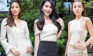'Rừng' người đẹp Việt tụ hội dự show thời trang giữa trưa hè