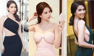 Những bộ váy cắt xẻ 'hiểm hóc' của Ngọc Trinh