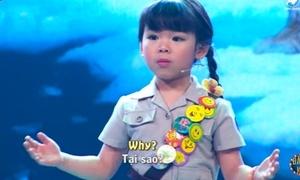 Bé gái 5 tuổi gây ngỡ ngàng khi thuyết trình tiếng Anh về môi trường
