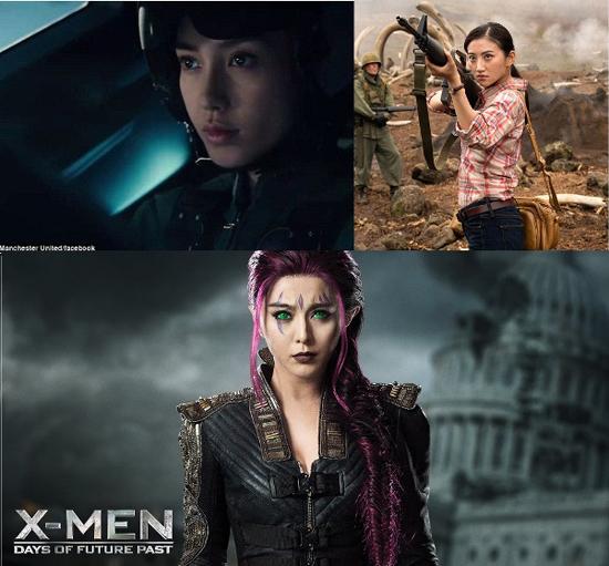 Sao Trung đóng vai phụ trong các phim bom tấn Hollywood.