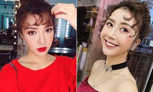 Sao Việt xinh chẳng kém khi copy 3 mốt tóc mái của idol Hàn