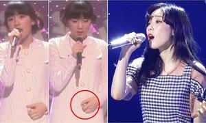 Tae Yeon từng nhút nhát, tay xoắn cúc áo khi hát trên sân khấu
