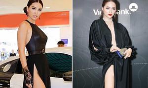 Hà Anh hé lộ chiêu tránh 'lộ hàng' của các sao khi mặc váy xẻ cao vút