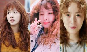 Tóc xoăn 'bà thím' cũng không xấu nổi khi lên phim Hàn