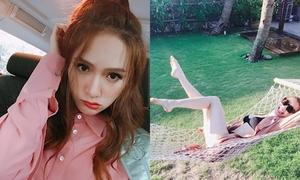 Sao Việt 16/4: Hồ Ngọc Hà lộ 'chân ngắn', Hương Giang méo mặt vì chạy show