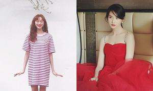 Sao Hàn 20/4: Yoon Ah mặc váy 2 dây quyến rũ, Lee Sung Kyung khoe vẻ xì tin