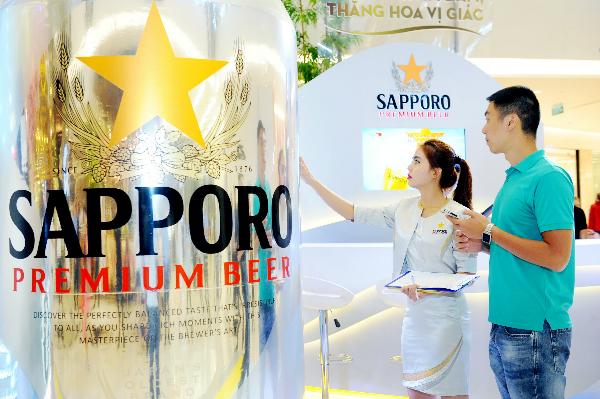 Sapporo Premium Beer với vị êm đằm mang đến khách hàng cảm giác thú vị sau mỗi ngụm uống.