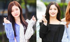2 visual của Produce 101 khoe vai, đọ sắc khi đến Music Bank