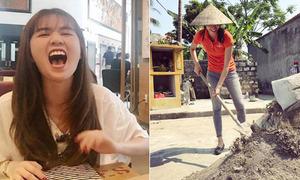Sao Việt 22/4: Phạm Hương đi xúc cát, Ngọc Trinh cười 'không thấy mặt trời'