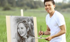 Chàng trai 6 năm vẽ chân dung Minh Hằng