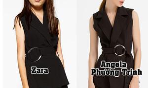 Loạt đồ Angela Phương Trinh thiết kế bị soi giống hệt Zara