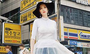 Diện đồ tự thiết kế, Angela Phương Trinh chất lừ trên đường phố Hàn