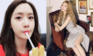 Sao Hàn 30/4: Yoon Ah khi ăn cũng đẹp, Yura khoe chân với váy xẻ tới đùi