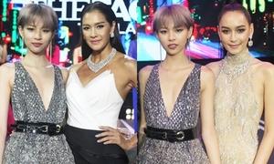Phí Phương Anh quyến rũ cạnh bộ tứ HLV The Face Thái