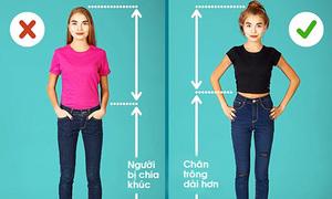 7 cách mặc để bạn gái trông mảnh mai và cao đến 10cm