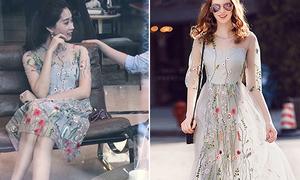 Chiếc váy giá rẻ ăn theo H&M được Thu Thảo diện liên tục