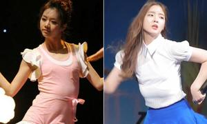 Những lần tuột áo ngực trên sân khấu khiến sao Hàn 'ngượng chín mặt'