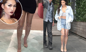 Chân dài Việt chịu chi nghìn đô sắm boots giống hệt Kim Kardashian