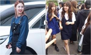 Twice, Somi đọ style nữ sinh đáng yêu trên đường đi làm