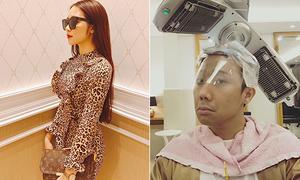 Sao Việt 10/5: Hòa Minzy lộ vòng 1 'khủng', Trấn Thành chăm làm đẹp không kém vợ