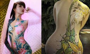 Những bức tranh tuyệt đẹp trên cơ thể thiếu nữ Việt