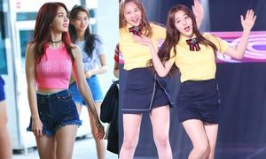 Những idol Hàn 10x mặc váy ngắn lộ chân dài miên man