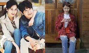 Sao Hàn 14/5: IU diện style tomboy cá tính, Seo Hyun ôm vai bá cổ trai đẹp