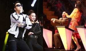 Học trò Thu Minh nhảy Gangnam Style khiến Tóc Tiên 'há hốc miệng'