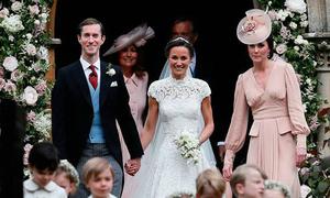 Hành động ngọt ngào của công nương Middleton trong đám cưới em gái