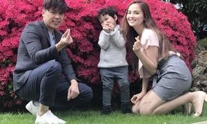 Diễm Hương dẫn chồng con du lịch sau chạy show ở nước ngoài