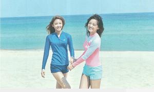 Nữ thần Kpop đọ dáng với bikini, đồ tập gym trên tạp chí