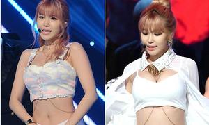 Sao Kpop gây nhức mắt với trang phục như nội y lên sân khấu