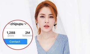 Chi Pu là sao Việt đầu tiên cán mốc 2 triệu fan trên Instagram