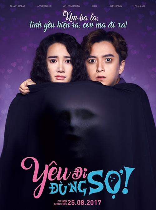 Teaser poster Yêu đi, đừng sợ gây chú ý với vẻ ma mị.