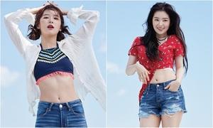 Irene, Seul Gi (Red Velvet) đọ vòng eo trên tạp chí
