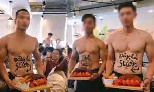 Dàn soái ca 6 múi phục vụ trong quán ăn Hà Nội khiến chị em ngây ngất
