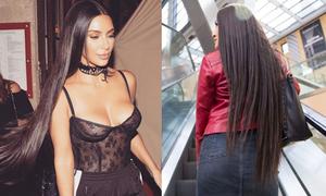 Điều gì xảy ra khi thử mái tóc dài 81 cm, giá gần 60 triệu như cô Kim?