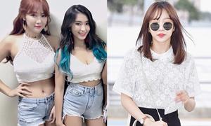 Sao Hàn 3/6: Hani đeo kính tròn cute, Sistar mặc mát mẻ khoe sắc vóc