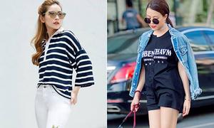 Những cách mix áo phông giá bình dân trông như tiền triệu