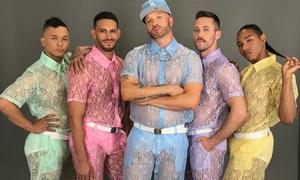 'Hết hồn chim én' với loạt quần short ren tím hồng nữ tính cho nam giới